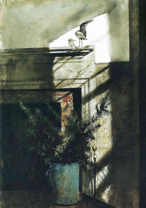 Andrew Wyeth -the bird in the room