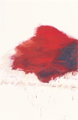 Cy Twombly-like a fire that burns