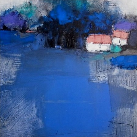 roger lane Blue Landscape