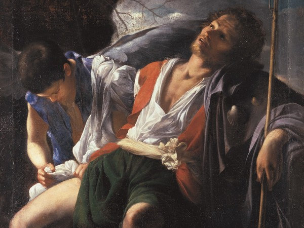 Carlo Saraceni, San Rocco curato dall'angelo.