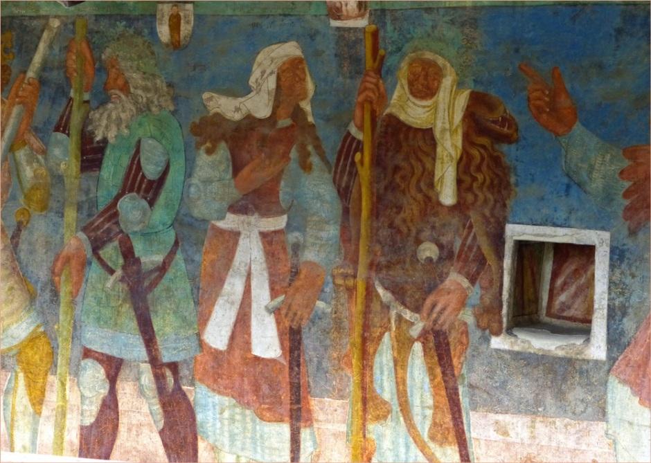 castel roncolo affreschi dettagli