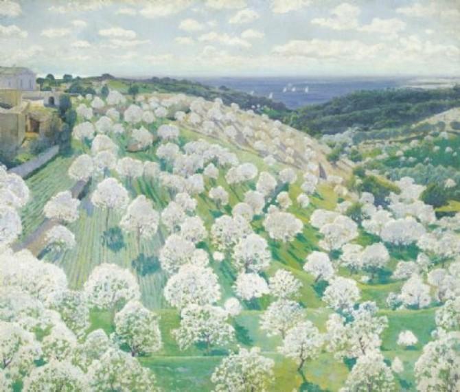 Anglada-Camarasa - Almendros en Flor 2 (Blossoming almond trees).