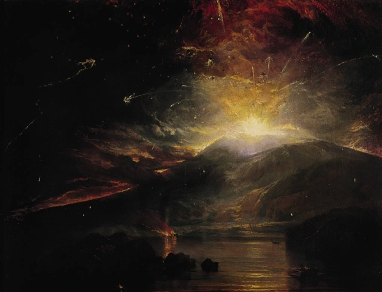 TURNER- L'eruzione delle Souffrier Mountains nell'isola di San Vincenzo a mezzanotte- 1815)