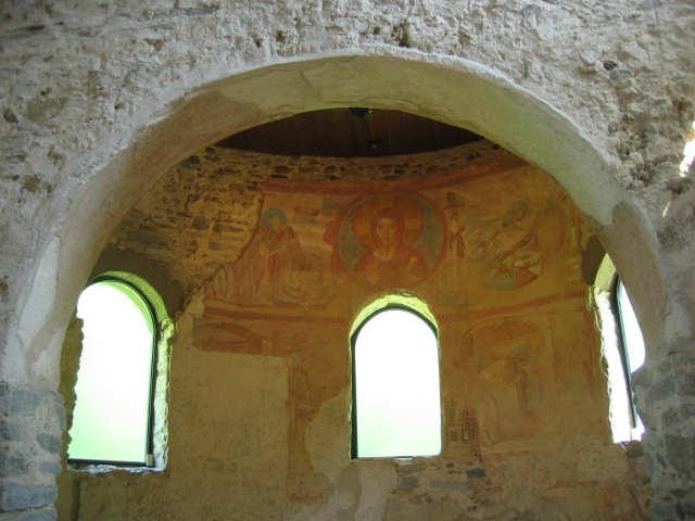 abside centrale della chiesa di Sancta Maria Foris Portas a Castelserpio