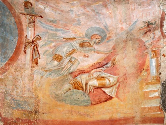 L'Angelo appare a Giuseppe per dissipare i dubbi della divina maternità.