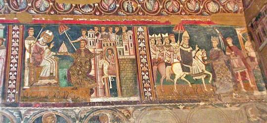 cappella san silvestro -costantino presenta la tiara a s. silvestro