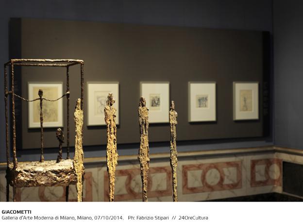 GIACOMETTI-Installation-view-on-Alberto-Giacometti-Galleria-dArte-Moderna-di-Milano-fino-al-1-Febbraio-2015-foto-F.-Stipari-3