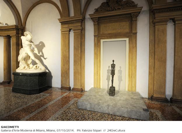 GIACOMETTI-Installation-view-on-Alberto-Giacometti-Galleria-dArte-Moderna-di-Milano-fino-al-1-Febbraio-2015-foto-F.-Stipari-4