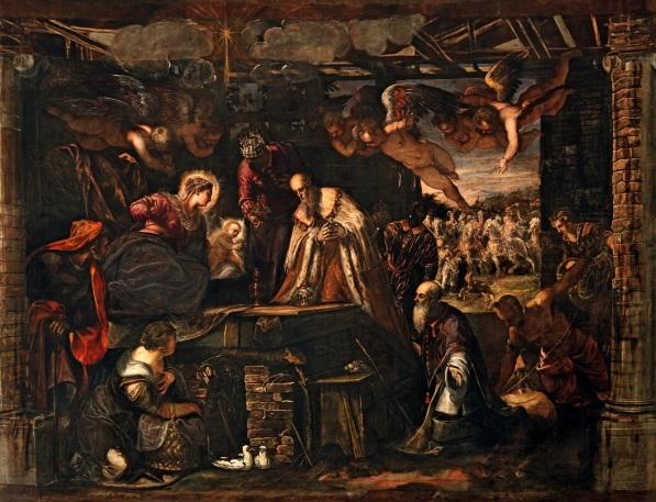 Tintoretto, Adorazione dei Magi, sala terrena, Scuola di San Roc