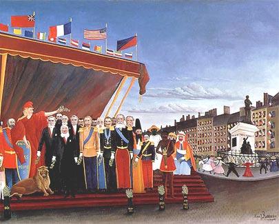 I rappresentanti delle potenze straniere rendono omaggio alla Repubblica in segno di pace 1907
