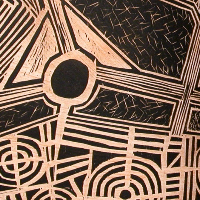 laura wait In+the+Garden+Woodcut+detail