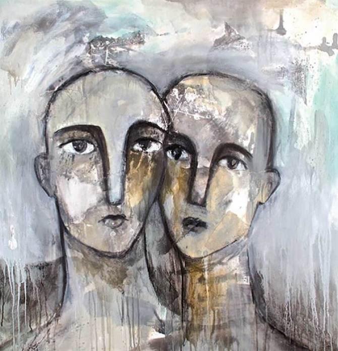 Alia Al Farsi- Faces- 2014 -faces-series,-2014,-Mixed-media-on-canvas.-100x100cm.-Courtesy-of-the-artist
