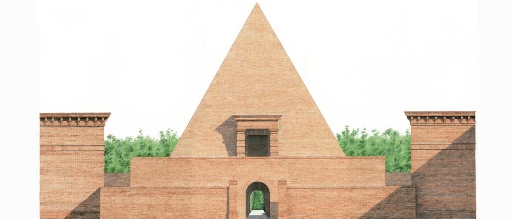 Ricci_Piramide- acquerello di giuseppe greci per carlo bontempi