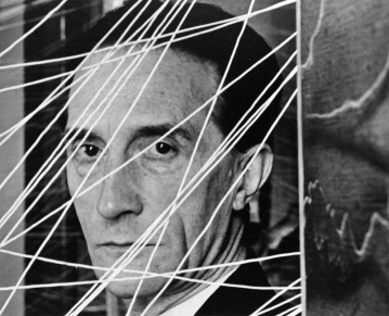 MARCEL-DUCHAMP-PEGGY-GUGGENHEIMS-GALLERY-ART-OF-THIS-CENTURY-NEW-YORK-NY-NOVEMBER-1942-1-c31462
