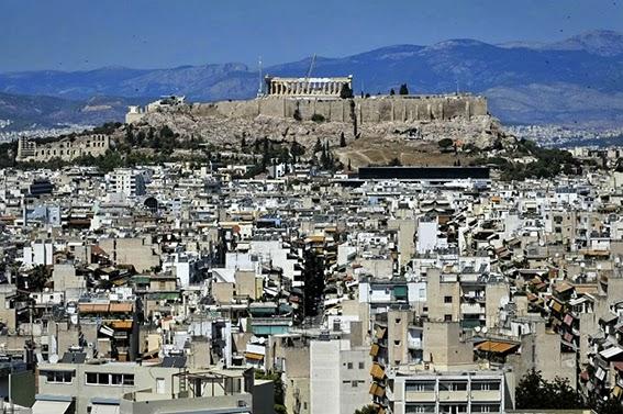 Atene vista Partenone