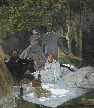 MONET-Le déjeuner sur l'herbe (entre 1865 et 1866)