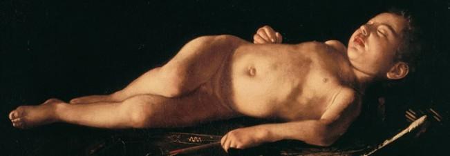 Michelangelo Merisi detto Caravaggio- Amore dormiente 1608