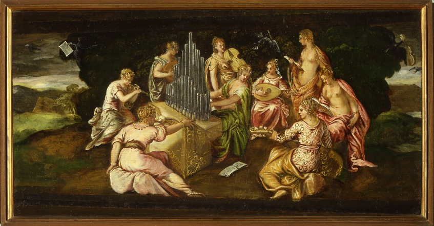 Tintorretto -Castelvecchio - contesa muse e pieridi 1562