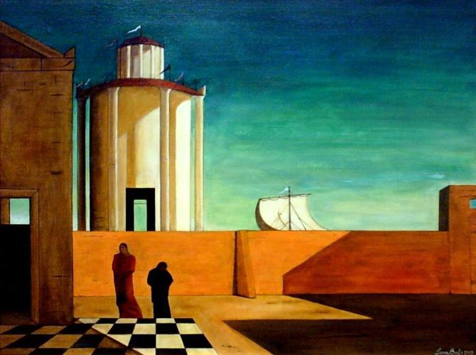 cover Giorgio De Chirico, L'enigma dell'arrivo