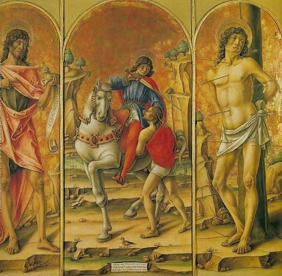 St.-Martin-Triptych-$28st.-John-The-Baptist,-St.-Martin-And-The-Poor-Man,-And-St.-Sebastian$29-Trittico-Di-San-Martino-$28san-Giovanni-Battista,-San-Martino-E-Il-Povero-E-San-Sebastiano$29