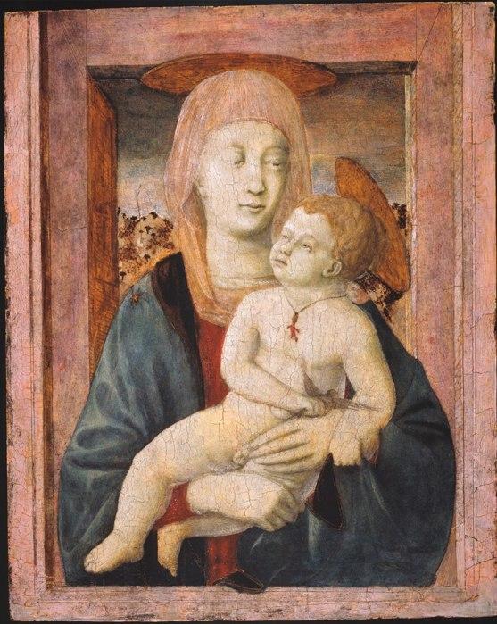 piero della francesca-madonna col bambino -newark