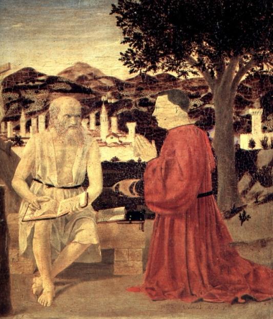 piero della francesca - s.gerolamo e un devoto