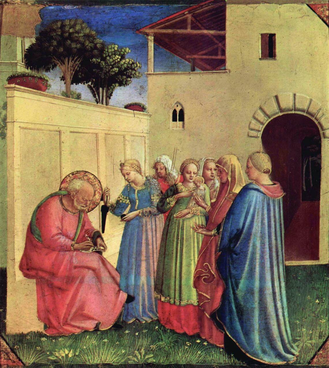 Beato Angelico_Imposizione del nome al Battista.