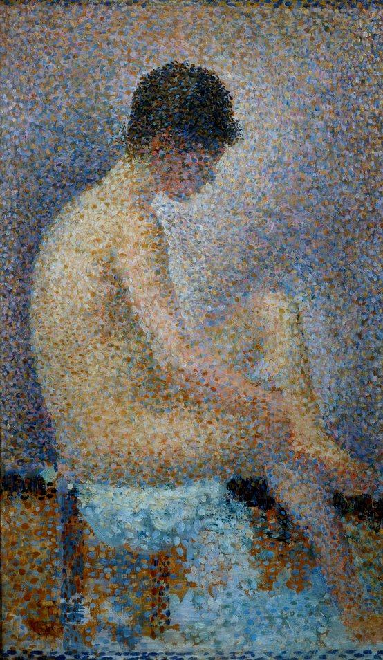 Modella di profilo, opera di Georges Seurat, conservata al Museo d'Orsay a ParigiSeurat Georges (1859-1891)1886Francia - Parigi, Musée d'Orsay
