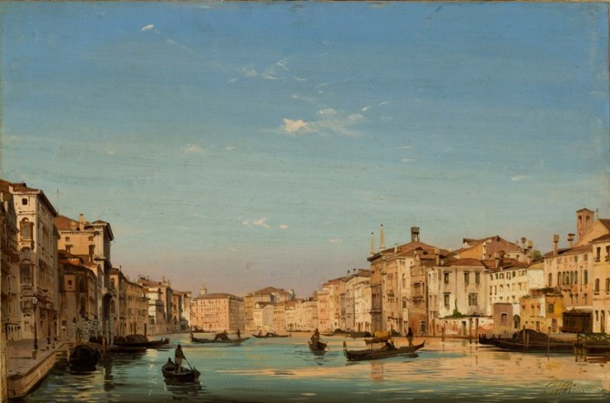 ippolito caffi-canal grande -venezia