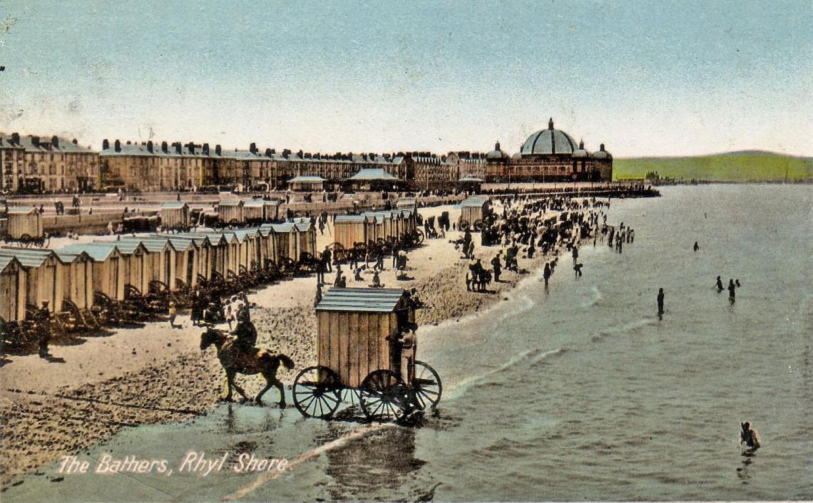 bathing machin postcard