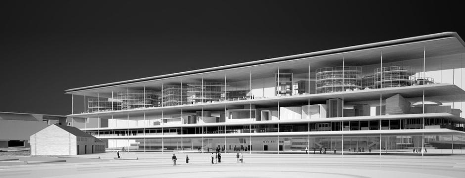 Exterior rendering -AAKAA & MARS Architectes