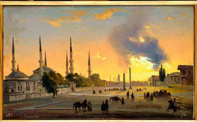 Ippolito-Caffi_Costantinopoli_ippodromo_1843_