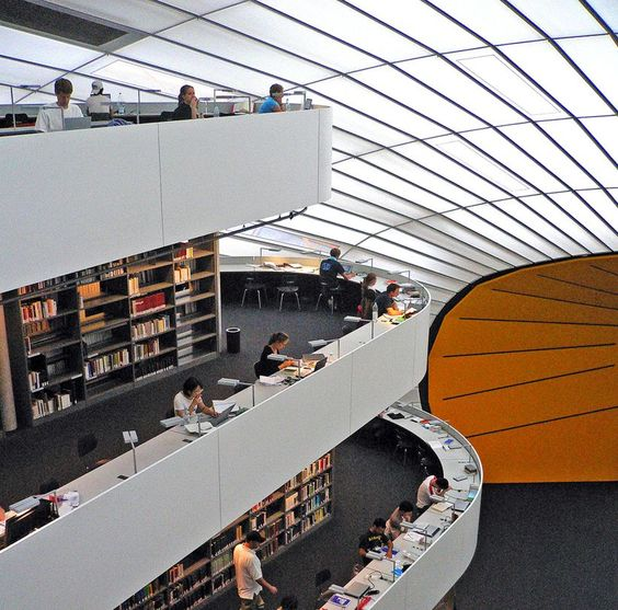 The library of the Faculty of Philology, The Free University of Berlin- Norman Foster