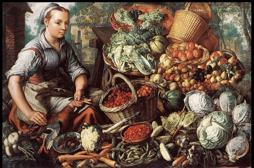 joachim_beuckelaer_004_mercato_donna_con_frutta_verdura_pollame_1564