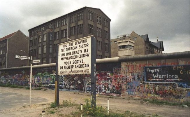 Juni 1988 Berlin (West), Mauer